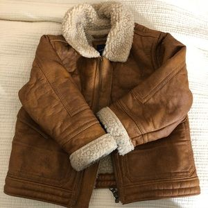 Toddler Boys Faux Shearling Jacket